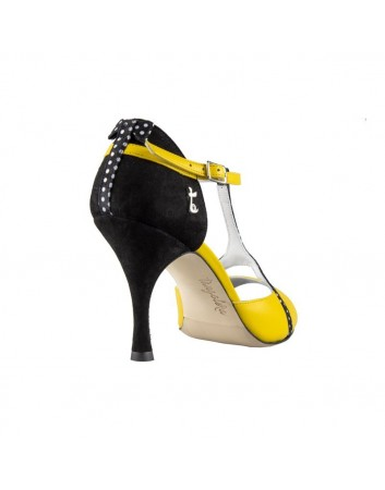 A 26 Yellow pois Tacco 8 cm