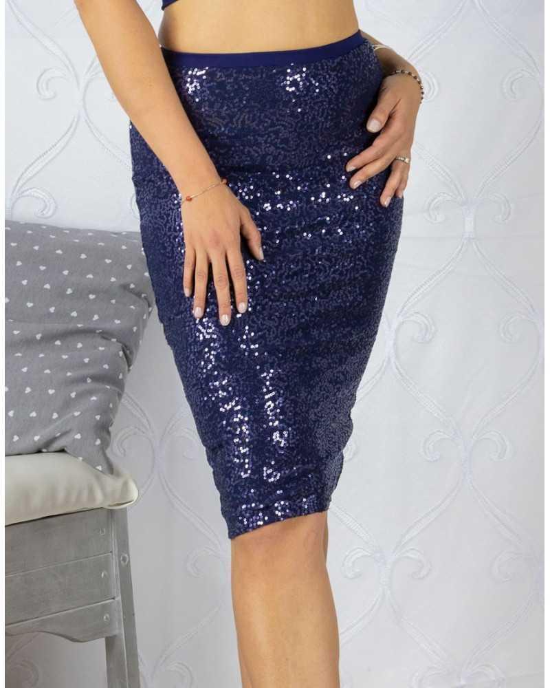 Skirt Tubino Vita Alta Paillettes Option 22