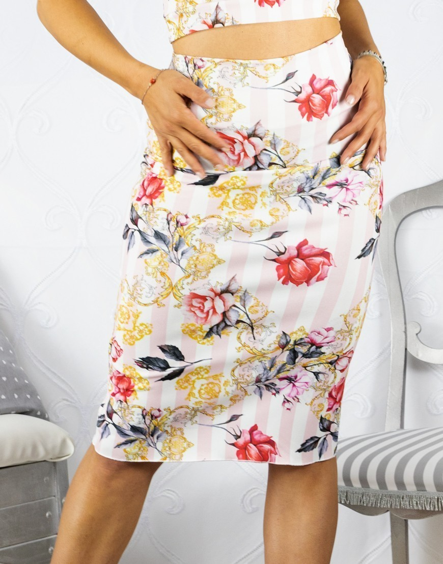 Skirt Tubino Vita Alta Option 33