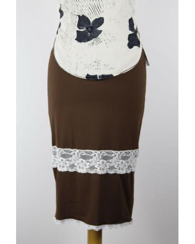 Skirt Tubino Vita Alta Pizzo Option 1